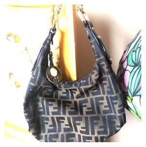 Fendi Zucca print hobo bag - Tobacco brown